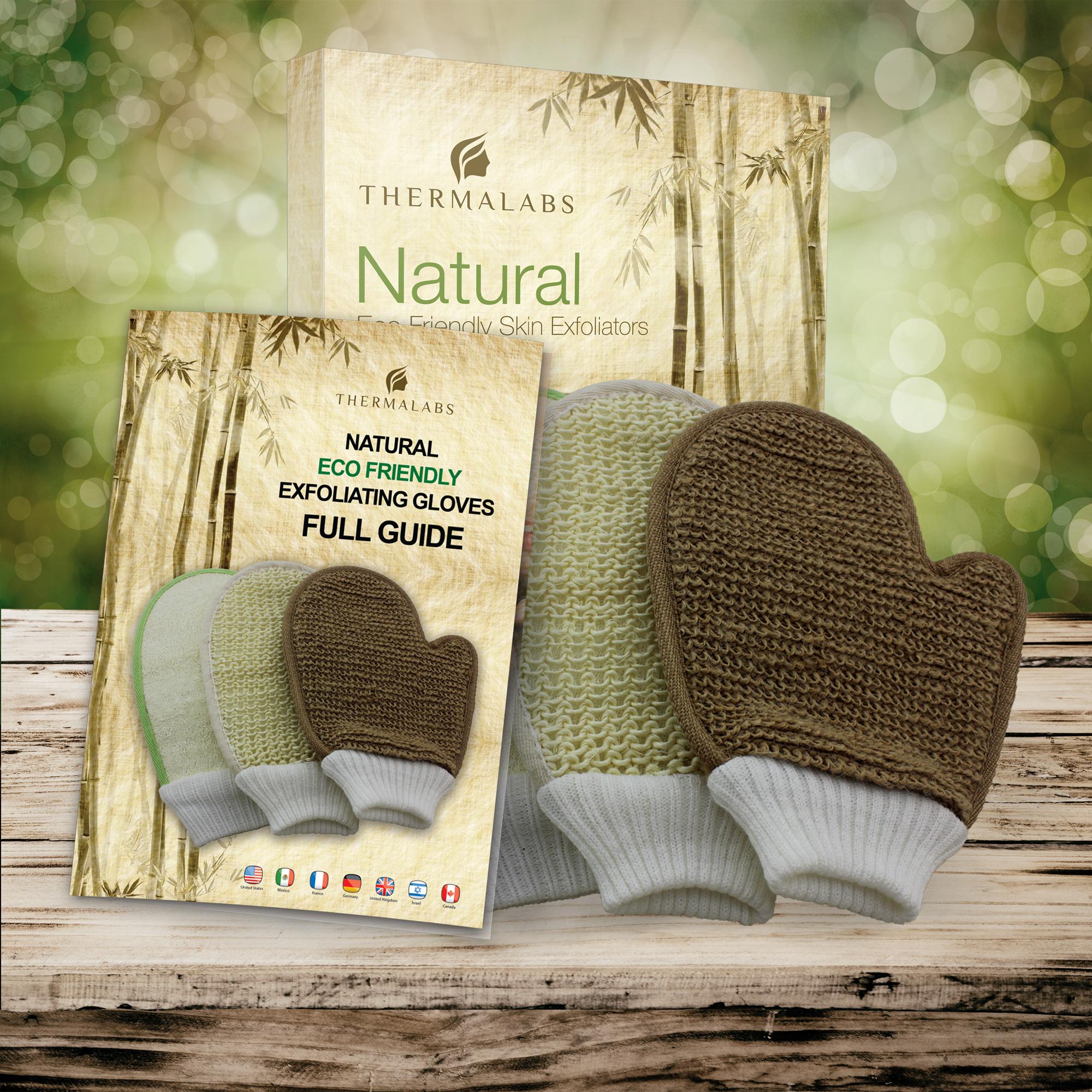 Thermalabs Eco-Friendly Body Scrub Exfoliating Gloves Set