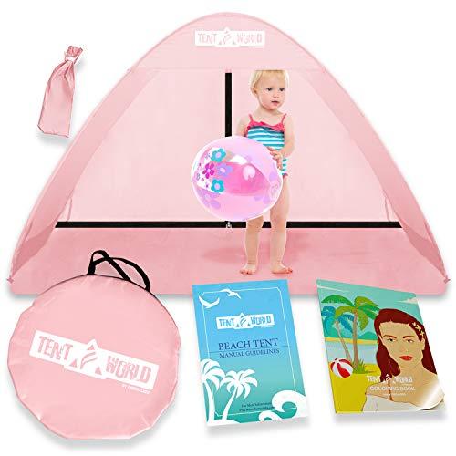 "Beach Tent Popup ""Mercury"" - Pink-6"