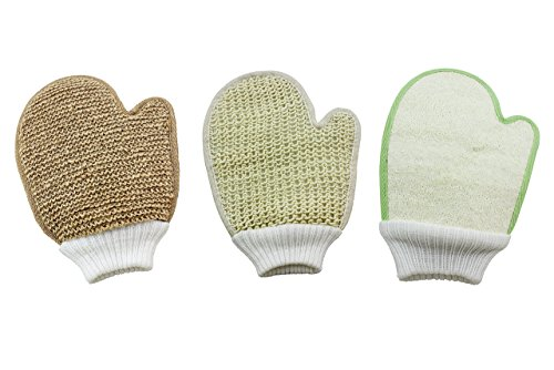 Bath Exfoliating Shower Gloves Health Set of 3 1