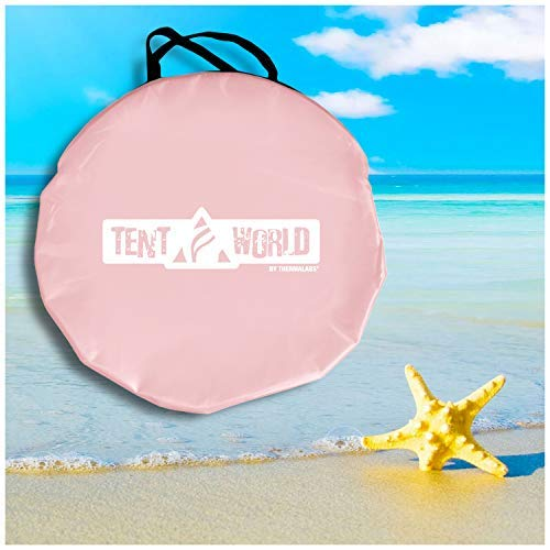 "Beach Tent Popup ""Mercury"" - Pink-3"