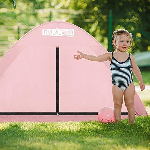 "Beach Tent Popup ""Mercury"" - Pink-4"