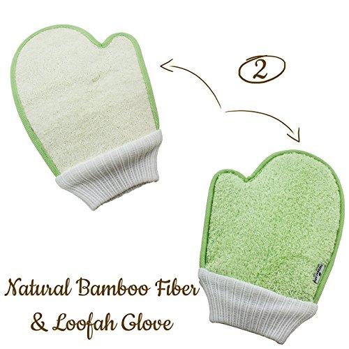 Bath Exfoliating Shower Gloves Health Set of 3-3