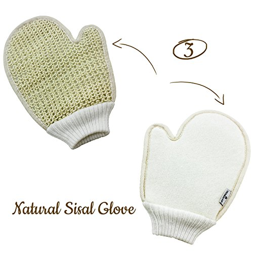 Bath Exfoliating Shower Gloves Health Set of 3-4