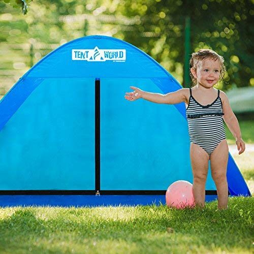 "Beach Tent Popup ""Mercury"" - Blue-4"